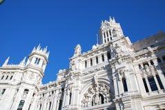 通信马德里宫殿 免版税库存图片
