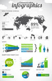 通信infographics 库存照片
