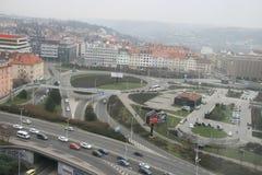 通信infrastructure_Prague 免版税库存照片