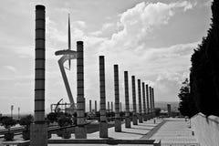 通信montjuic塔 免版税图库摄影
