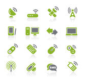 通信natura系列无线 向量例证