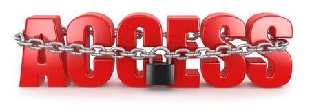 通入和锁(包括的裁减路线) 免版税库存照片