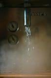 通入蒸汽的水 免版税库存照片
