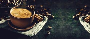 通入蒸汽的芳香咖啡 免版税库存图片