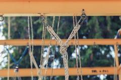 绳索通入设备 免版税库存照片