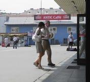 通勤者在布拉索夫 免版税库存照片