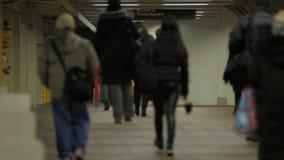 通勤者在纽约 股票录像
