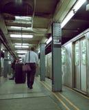通勤者新的街道地铁墙壁约克 图库摄影