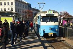 通勤者电车,瑞典 哥特人 库存图片