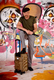 通勤者都市街道画的人 图库摄影