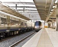 通勤者gautrain高速火车 免版税库存图片