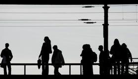 通勤者ostkreuz火车站 免版税库存照片