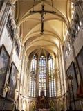 通厄伦大教堂唱诗班,Onze辛迪里夫Vrouwe Basiliek在最旧的镇在比利时 库存图片