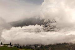 通古拉瓦火山爆炸,威严2014年 免版税库存照片