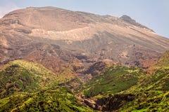 通古拉瓦火山,一座活火山的上面 免版税图库摄影