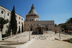 通告大教堂以色列nazareth 库存照片