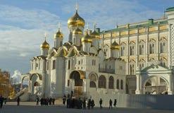 通告大教堂克里姆林宫莫斯科俄国 库存照片
