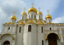 通告大教堂在克里姆林宫,莫斯科 免版税库存图片