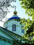 通告大教堂在Meshchovsk卡卢加州地区俄国镇  免版税图库摄影
