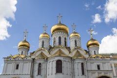 通告的大教堂在克里姆林宫(莫斯科) 免版税库存图片