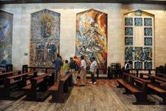 通告的大教堂在拿撒勒以色列 免版税库存照片