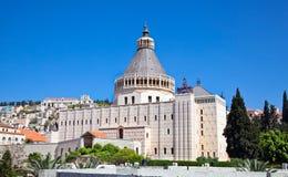 通告的大教堂, Nazareth,以色列 库存图片