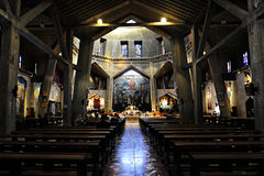 通告的教会在拿撒勒,以色列 免版税库存照片