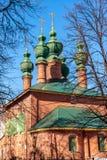 通告的教会在17世纪建造在雅罗斯拉夫尔市,俄罗斯 免版税库存图片
