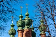 通告的教会在17世纪建造在雅罗斯拉夫尔市,俄罗斯 图库摄影