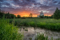 通告的教会在Taininskoye 免版税图库摄影