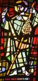 通告的教会污迹玻璃窗  库存照片