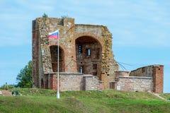 通告的教会的废墟 库存图片