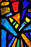 通告被弄脏的教会玻璃 免版税库存图片