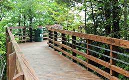 通往密歇根湖的步行道路 免版税库存图片
