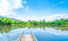 通往湖的道路 库存照片