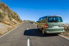 通往观测所的道路在拉帕尔玛岛海岛上 库存图片