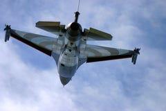 通用动力公司F-16战隼喷气机 免版税库存图片