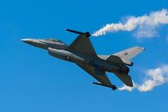 通用动力公司F-16AM战隼J-631/CN :6D-63 免版税库存照片