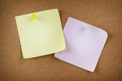 通知单纸张 免版税库存图片