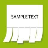 通知单纸张 库存例证