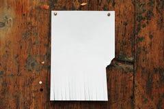 通知单纸张 免版税图库摄影