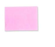 通知单附注粉红色 库存照片
