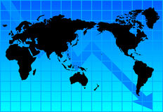 通货膨胀世界 免版税库存图片