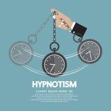 通过使用时钟的催眠状态 向量例证