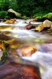 通过加长曝光时间,水被拍摄象云彩 库存照片