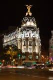 通过在马德里的Gran 库存照片