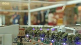 通过城市微型模型的行动对参加者流动 股票视频