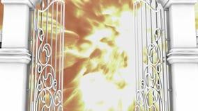通过天堂通过, 3D门动画 皇族释放例证