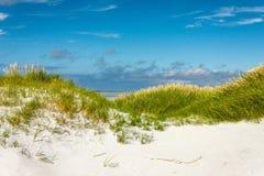 通过沙丘向海 Cata沙子, Sanday,奥克尼, Scotlan 库存照片