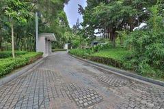 通过绕道路在tko公园hk 库存照片
